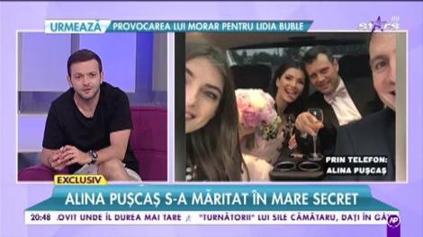 """Alina Puşcaş s-a măritat în mare secret: """"M-a luat și pe mine prin surprindere"""""""