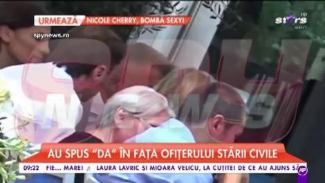 Crina Abrudan și Gabi Popescu s-au căsătorit civil