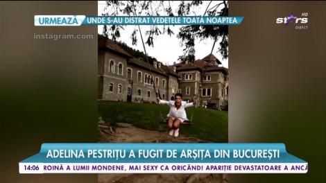 Adelina Pestriţu se relaxează! A fugit de căldura din Bucureşti într-un loc răcoros şi stilat