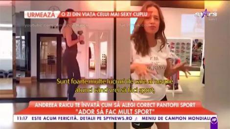 """Andreea Raicu, sfaturi despre pantofii potriviţi pentu sport: """"Noi călcăm foarte mult în exterior"""""""