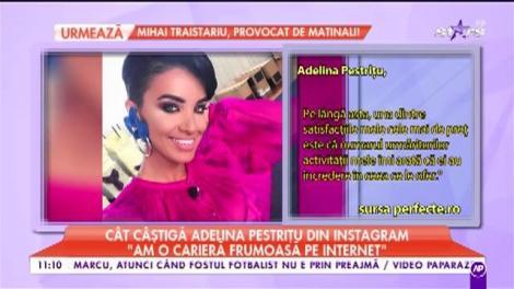 """Adelina Pestrițu câștigă o mică avere din postările pe rețelele de socializare: """"Dacă vinzi imagine, trebuie să ai grijă de imaginea ta"""""""