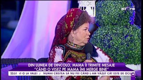 """Din lumea de dincolo, mama Savetei Bogdan îi trimite mesaje: """"Când o visez pe mama îmi merge bine"""""""