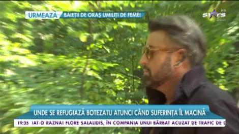 Cătălin Botezatu, shooting foto în pădure... pe cal!