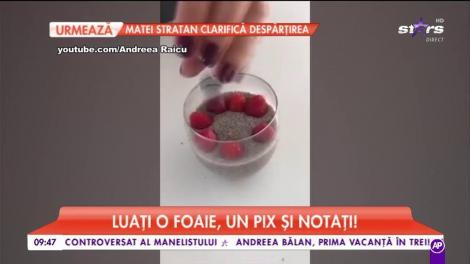 Andreea Raicu, mic dejun în trei minute