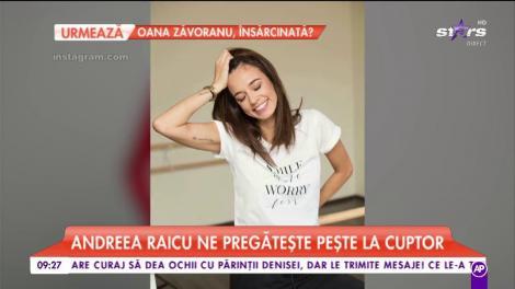 Andreea Raicu a dat fiţele pe şorţul de bucătărie