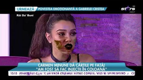 """Carmen Minune dă carțile pe față! """" Am fost să fac injecții în coloană"""""""