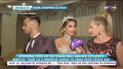 """Logodnă fiicei lui Sile Cămătaru, imagini exclusive! Rebecca: """"Încă nu sunt pregătită să port o rochie de mireasă"""""""