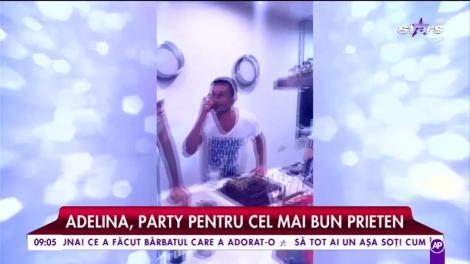 Adelina Pestrițu a dat party pentru cel mai bun prieten. La petrecere a venit și noul iubit