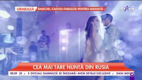 Cea mai tare nuntă din Rusia. Mireasa a purtat două rochii