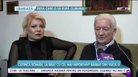 Zi importantă pentru Catinca Roman. Tatăl vedetei împlinește 85 de ani.
