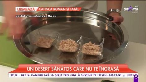 Andreea Raicu pregătește Cheesecake raw cu lămâie. Un desert sănătos care nu te îngrașă