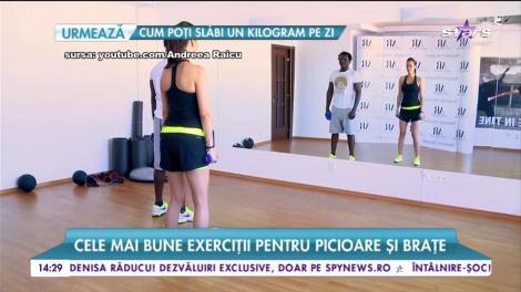 În sala de fitness cu Andreea Raicu