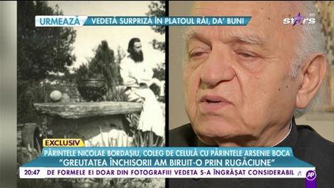 """Nicolae Bordașiu, coleg de celulă cu Arsenie Boca: """"Părintele era închis din pricina faptului că m-a vizitat pe mine"""""""