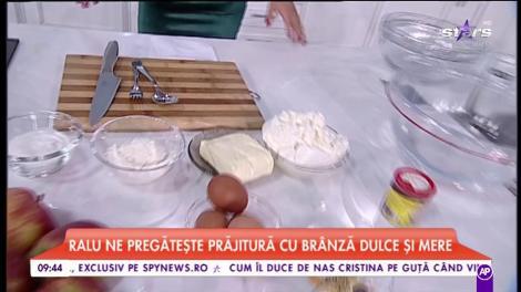 """Chef Raluca Dumitru gătește - """"Prăjitură cu brânză dulce cu mere"""""""