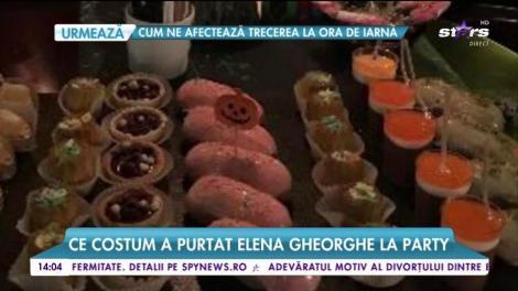 Elena Gheorghe, party de Halloween