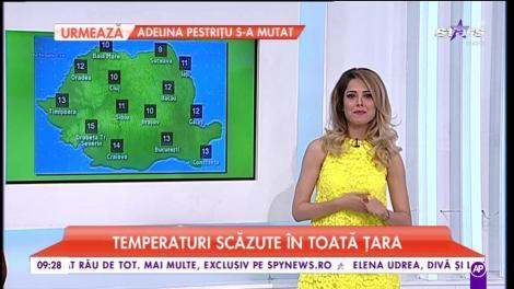 Val de frig peste România. Maxima zilei ajune până la 15°C