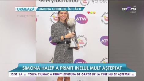 Simona Halep a primit trofeul WTA și inelul mult așteptat. Jucatoarea a declarat că s-a logodit