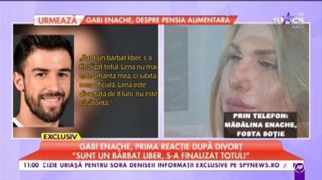 """Fosta soție a lui Gabi Enache: """"Avem custodie comună. Nu am nevoie de banii lui, dar fata merită"""""""
