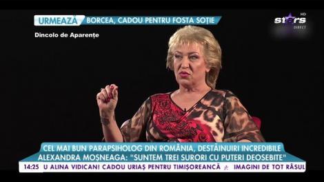 """Cel mai bun parapsiholog din Romania, destăinuiri incredibile: Alexandra Moșneag: """"Suntem trei surori cu puteri deosebite"""""""