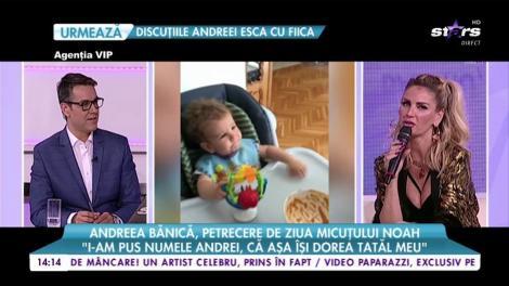 """Andreea Bănică, petrecere de ziua micuțului Noah: """"I-am pus numele de Andrei, că așa își dorea tatăl meu"""""""