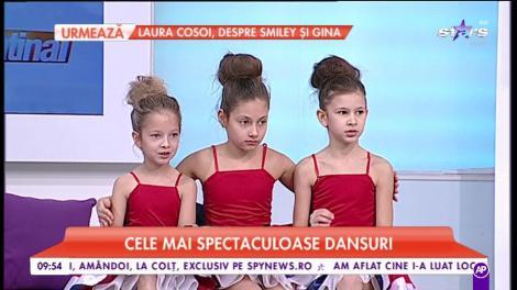 Copiii de la școala de dans Lollypops fac spectacol în platoul Star Matinal
