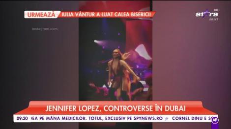 Jennifer Lopez, controverse în Dubai. Celebra cântăreața a urcat pe scenă în chiloți