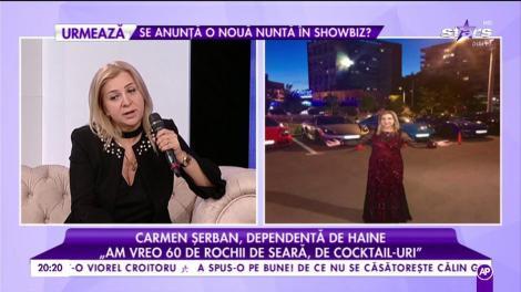 """Carmen Șerban, dependentă de haine: """"Am vreo 50 de rochii de seara, de cocktail-uri"""""""