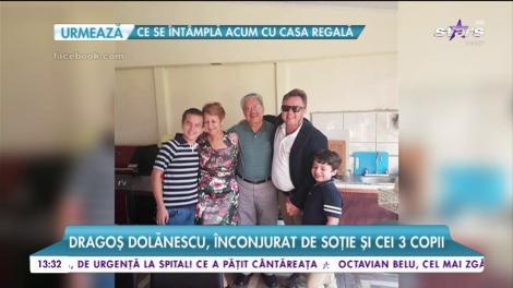 Dragoș Dolănescu, sărbătoare la cei 42 de ani. Artistul a fost înconjurat de soție și cei trei copii