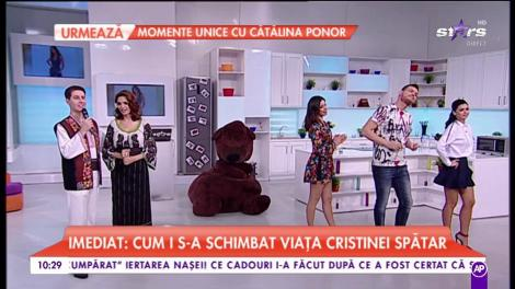 Cristina Spătar și Nicușor Iodan cântă în platoul Star Matinal
