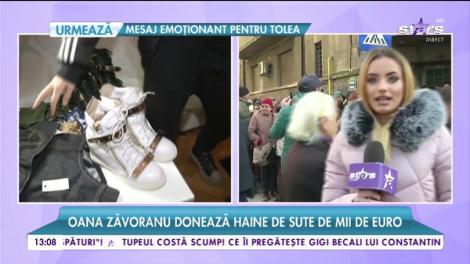 Oana Zăvoranu donează haine de sute de mii de euro
