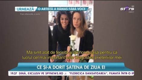 Surprize după surprize pentru Andreea Raicu. Ce și-a dorit șatena de ziua ei