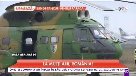 La mulți ani, România! La baza aeriana 90 se fac ultimele pregătiri pentru parada de 1 Decembrie