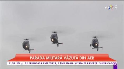 La multi ani, România! Paradă militară de 1 Decembrie. Soldații defilează pe sub Arcul de Triumf