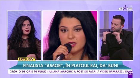 """Finalista """"iUmor"""", în platoul Răi da buni. Ioana State, lecția de gramatică pentru jurații celebrului concurs"""