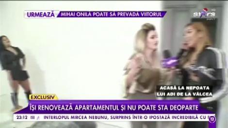 Nepoata lui Adi de la Vâlcea, sexy în orice moment. Diva își renovează apartamentul și nu poate sta deoparte