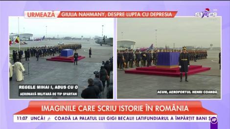 Imaginile care scriu istorie. Trupul Majestății Sale, Regele Mihai a ajuns în România