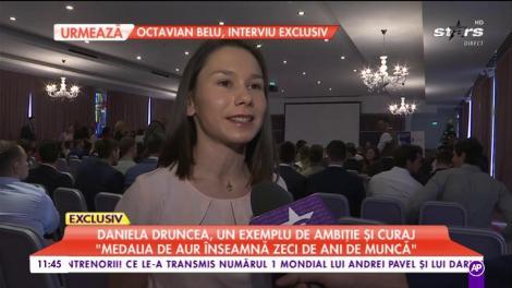 """Daniela Druncea, un exemplu de ambiție și curaj: """"Atunci când primești medalia de aur este minunat"""""""