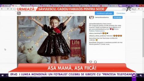 Așa mamă, așa fiică! Fetița Andreei Bănică îi calcă pe urme mamei sale