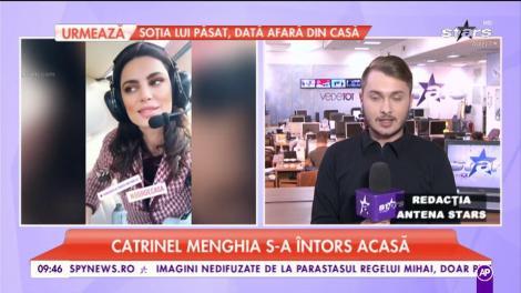 Catrinel Menghia s-a întors acasa. Primul lucru pe care l-a făcum de cum a pus piciorul pe tărâm românesc