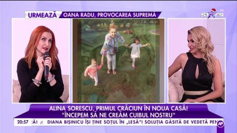 Alina Sorescu, între job și familie. Vedeta sărbătorește primul Crăciun în casă nouă