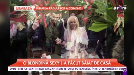 Marele crai Daminuță s-a căsătorit în secret. O blondă sexy l-a făcut băiat de casă