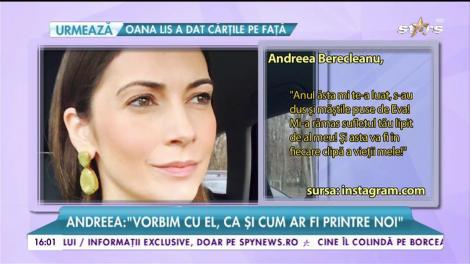 Andreea Berecleanu, cu gândul la tatăl ei în seara de Revelion