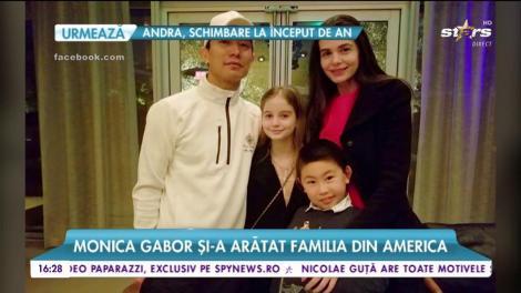 Monica Gabor a sărbătorit Revelionul în familie