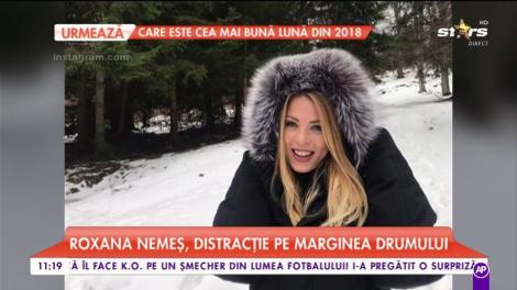 Roxana Nemeş a petrecut trecerea dintre ani la munte