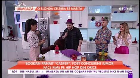 """Bogdan Panait sau """"Casper"""", fost concurent la iUmor, face rime din orice: """"Salutări tuturor, azi bem doar compot"""""""