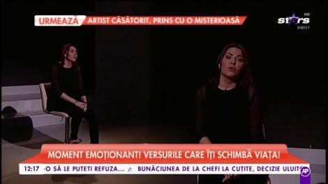 Georgiana Dănilă, moment emoționant! Versurile care îți schimbă viața