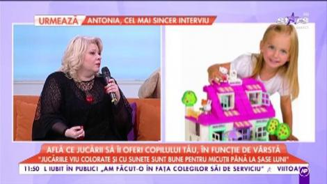 """Jucăriile, pericol pentru copii: """"Jucăriile viu colorate și cu sunete sunt bune pentru micuții până la șase luni"""""""