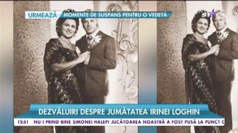 """Bărbatul pe care Irina Loghin l-a ținut ascuns 50 de ani: """"Prima dată, ne-am împrietenit"""""""