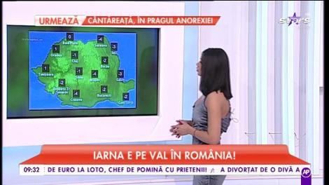 Iarna e pe val în România! Maximele ajung până la -6°C