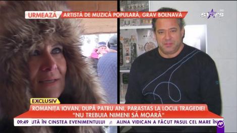 """Romaniţa Iovan, parastas la locul tragediei în care Adrian Iovan a murit: """"Nu trebuia să moară nimeni.Încerc să îl fac să înţeleagă pe Albert că nu este un copil fără tată, ci cu un tată erou"""""""